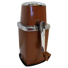 Sears Coppertone Brown Plastic Chrome Ice Crusher Vintage