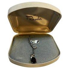 Pakula Garnet Birth Stone Rhinestone Necklace