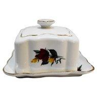 Spencer Stevenson Bone China Royal Stuart Roses Square Butter Dish