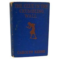 Nancy Drew The Clue in the Crumbling Wall 1945 Blue Cover