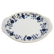 Enoch Wedgwood Blue Heritage Onion Gravy Underplate