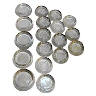Clear Glass Furniture Coaster Gliders 18 Pieces Assorted Sizes