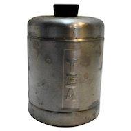 Spun Aluminum Tea Canister Mid Century