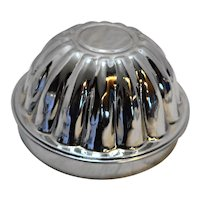 Tin Steamed Pudding Mold Made in England