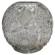 Fostoria Brazilian Cane Shield #600 EAPG Rose Bowl Vase