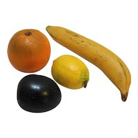 Faux Fruit Plaster Orange Plum Lemon Banana Vintage