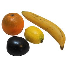 Faux Fruit Plaster Orange Plum Lemon Banana Vintage