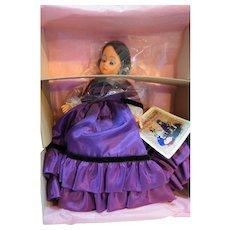Madame Alexander Melanie 10 IN Scarlett Jubilee II 1101 Mint in Box Purple Gown