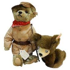 Steiff Teddy Roosevelt Berryman Bear Cub EAN 665615 Ltd Ed 685/4000 1998 NIB