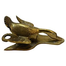 Virginia Metalcrafters Wild Duck Solid Brass Memo Holder Paper Clip