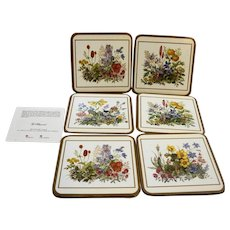 Pimpernel Meadow Flowers Coasters Set of 6 With Box