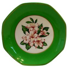 The Greenbrier Resort Octagon Salad Plate Gold Trim Porcelain