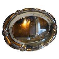 Wm Rogers 411 Silverplate Oval Bread Tray Pierced Rim 1930s-40s