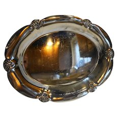 Wm Rogers 411 Silverplate Oval Bread Tray Pierced Rim 1930s-40s