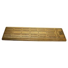 Whitman Solid Wood Cribbage Board in Box Complete