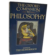 Oxford Companion to Philosophy 1995 Softcover 1st Edition