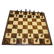 Cardinal Games Staunton Style Wood Carved Chess Checkers Set 1005