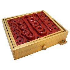 Labyrinth Wood Plastic Tilting Maze Game