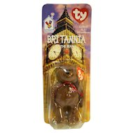 Ty Beanie Baby Britannia The Bear McDonald's Exclusive New In Package With Errors