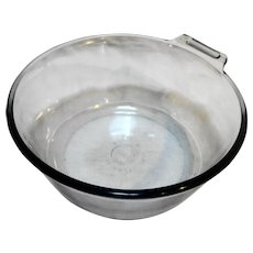 Pyrex Flameware Blue Saucepan 823 No Handle Sapphire Blue Glass