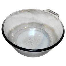 Pyrex Flameware Blue Saucepan 823 No Handle Sapphire Blue Glass