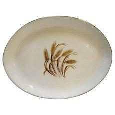 Homer Laughlin Golden Wheat Oval Platter 11 3/4 IN