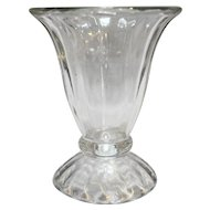 Libbey Ice Cream Sundae Dish Ribbed Optic Tulip Shape Clear Glass