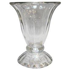 Libbey Ice Cream Sundae Dish Ribbed Optic Tulip Shape Clear Glass