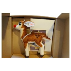 Steiff Rudolph Red Nosed Reindeer FAO Schwartz EAN 652141 NIB NRFB LE 1199/2000