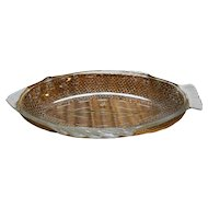 Glasbake 4141 Clear Fish Baking Dish Large Oval Basket