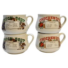 Chicken Soup Onion Soup Recipe Mugs Taiwan Pottery