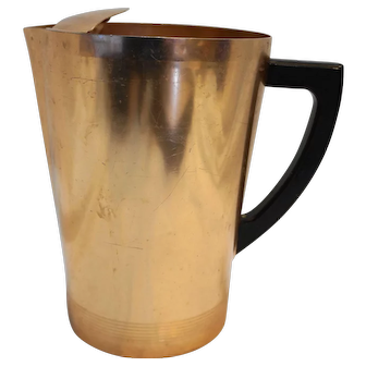 West Bend Aluminum Copper Colored Pitcher