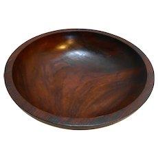 Mahogany Bowl Salad Serving Made in Haiti Vintage