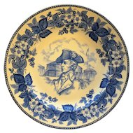 Wedgwood Blue White Commemorative Plate General Anthony Wayne