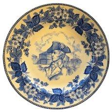 Wedgwood Etruria /& Barlaston Embossed Queensware Blue on Cream Round Ashtray