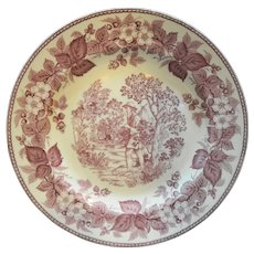 Wedgwood Red White Commemorative Plate Johnny Appleseed