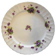 Samuel Radford Violet Fluted Dinner Plate Bone China England