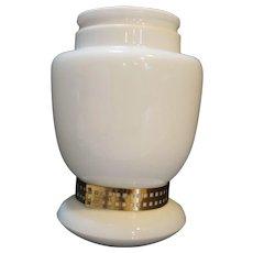 White Milk Glass Pendant Light Shade Only Mushroom Shape