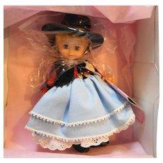 Madame Alexander Doll Texas 313 Blonde Blue Eyes NIB 7 IN