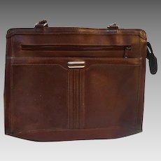 Oxblood Leather Vintage Handbag Attache Style