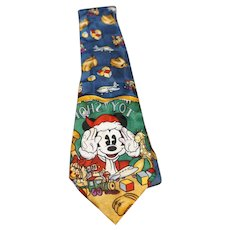 Mickey Mouse Christmas Toy Store Vintage Silk Tie Atlas Designs Disney