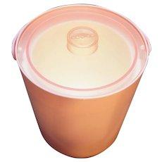 Copco Pink Plastic Ice Bucket Vintage Taiwan