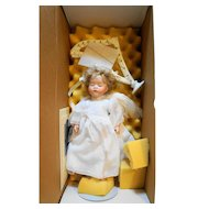 Lawton Doll 3rd Annual The Christmas Doll Angel Harp 1990 NIB Limited Edition Artist Proof