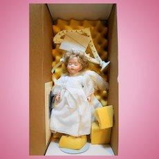 Lawton Doll 3rd Annual The Christmas Doll Angel Harp 1990 NIB Limited Edition Artist Proof