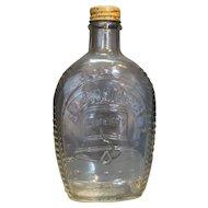 Log Cabin Liberty Bell Bicentennial Syrup Bottle 1976 Clear Glass