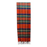 Cashme Cashmere Feel Red Plaid Muffler Scarf Japan