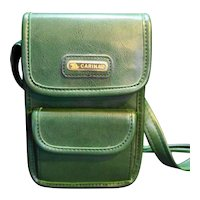 Carina Green Small Purse 1990s Faux Leather Made in Korea