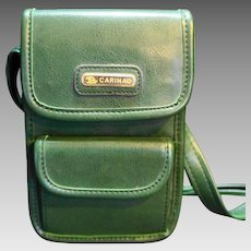 Carina Green Small Purse 1990s Faux Leather Made in Korea