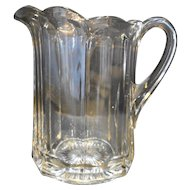 McKee Colonial Pres Cut Paneled EAPG Pitcher Clear Glass