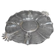 Fostoria Baroque Clear Cake Plate Double Handles